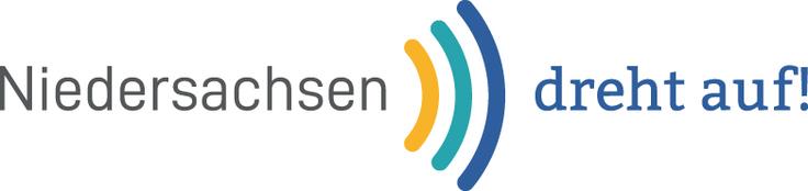 """Logo """"Niedersachsen dreht auf"""" mit Link zum MWK"""