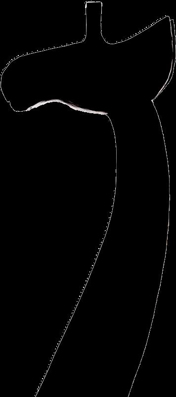 Silhouette einer Giraffenfigur