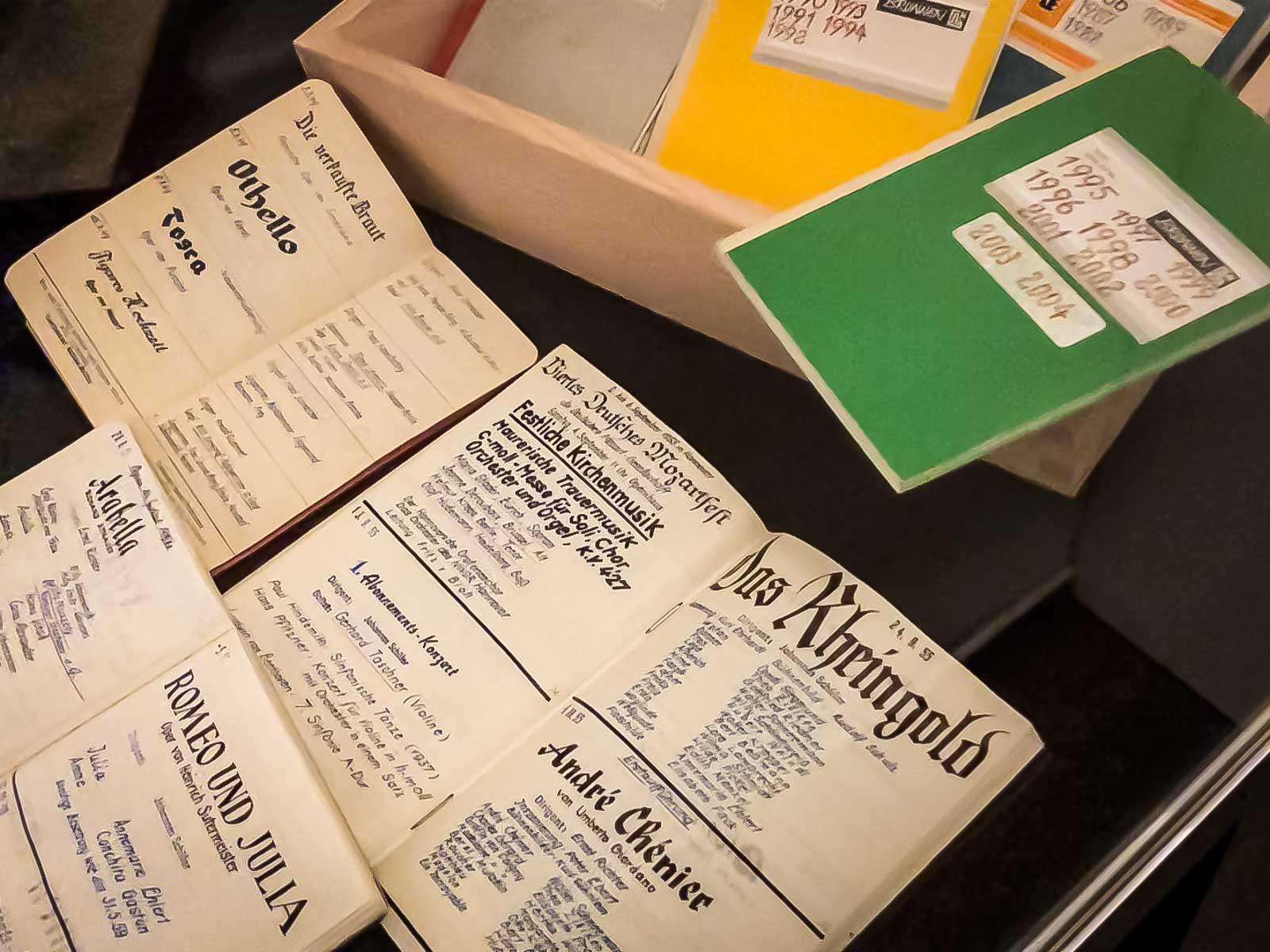 Aufführungs-Tagebücher