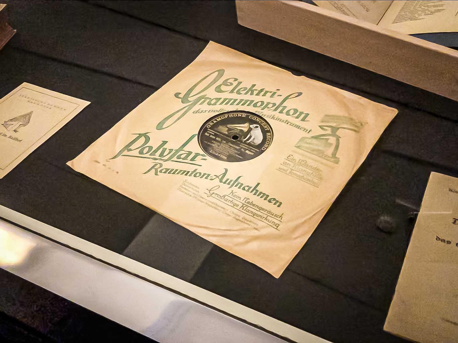 alte Schellack-Schallplatte