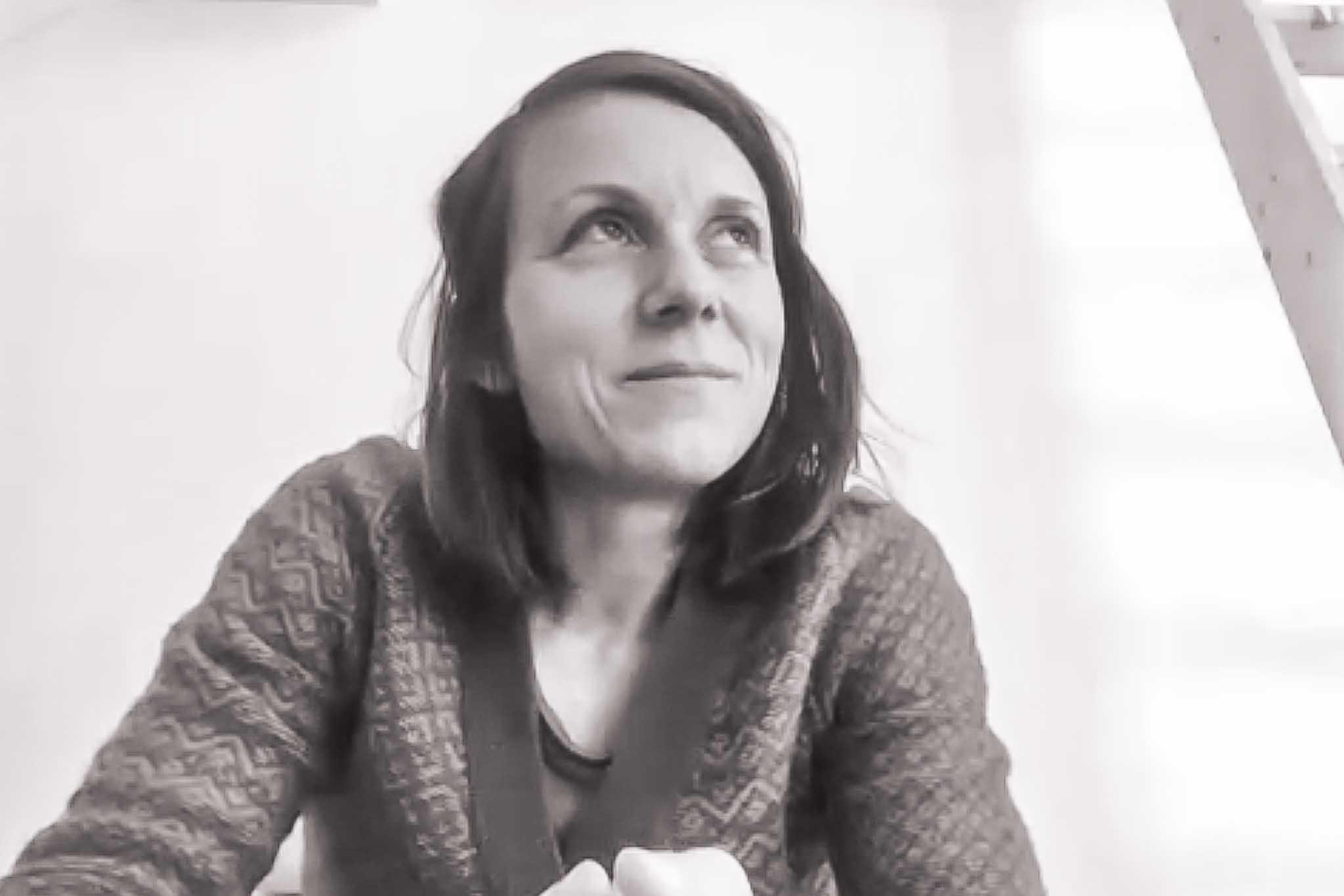 Verena während der Videokonferenz