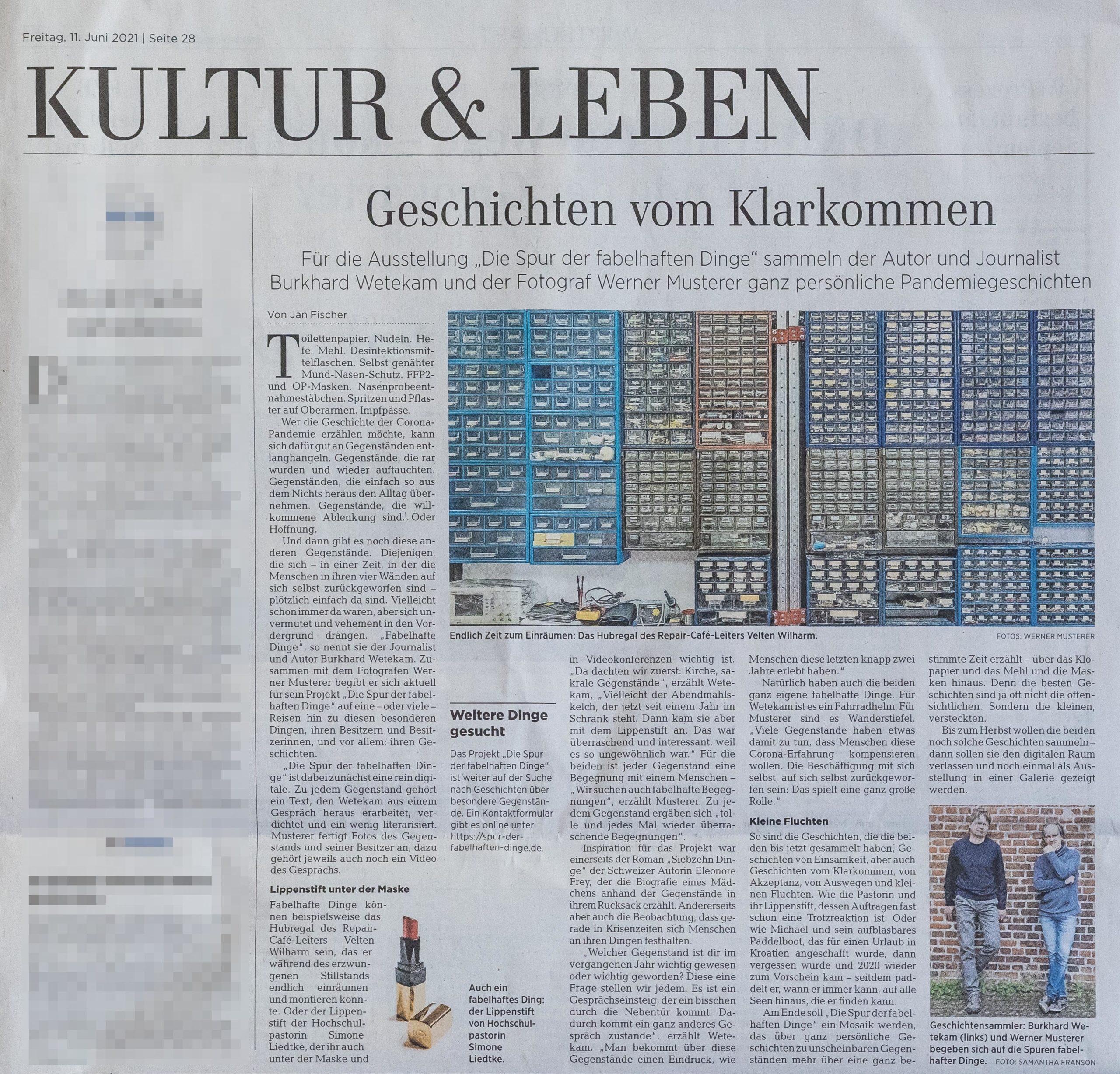 Zeitungsausschnitt aus der HAZ