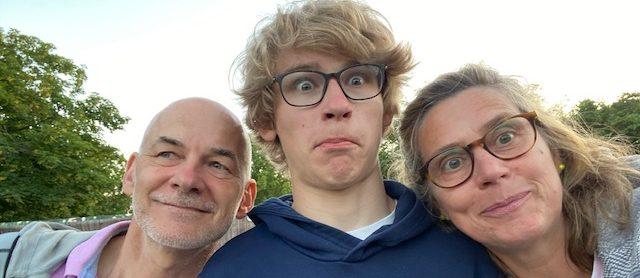 Susanne mit Ehemann und Sohn