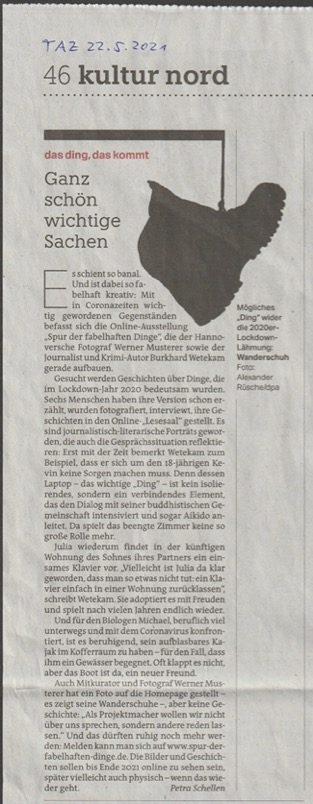 Zeitungsausschnitt aus der TAZ